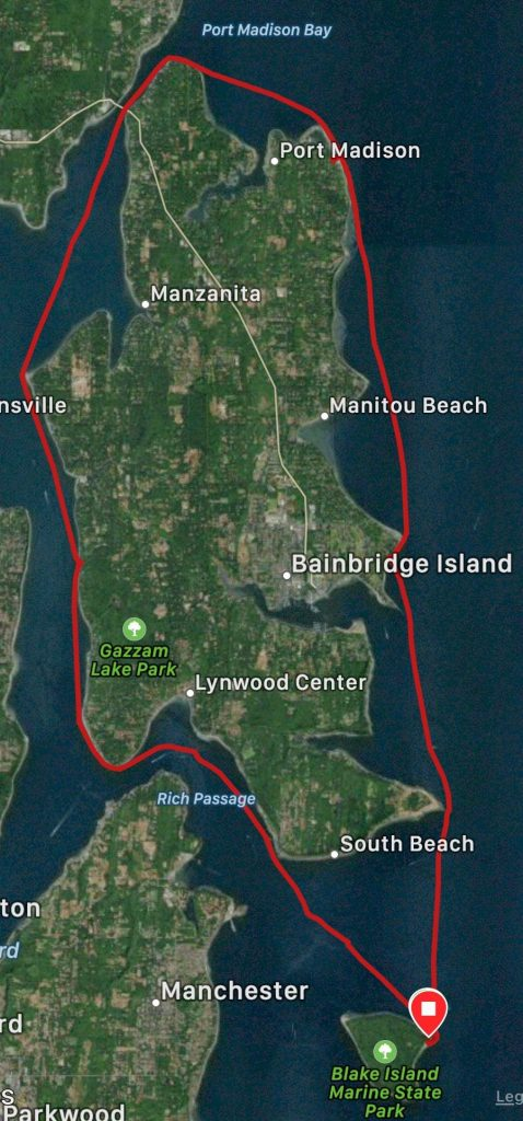 Track around Bainbridge