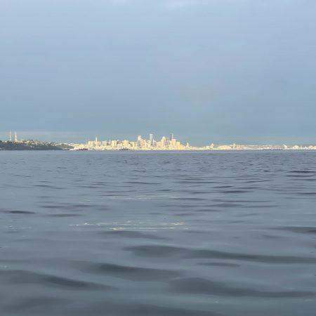 Seattle in a sunbeam