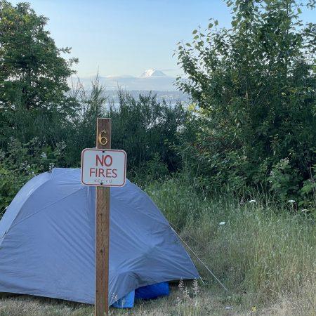 Camping at Maury Island Marine Park