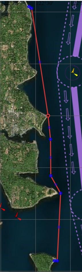 Map of Fay Bainbridge to Blake Island