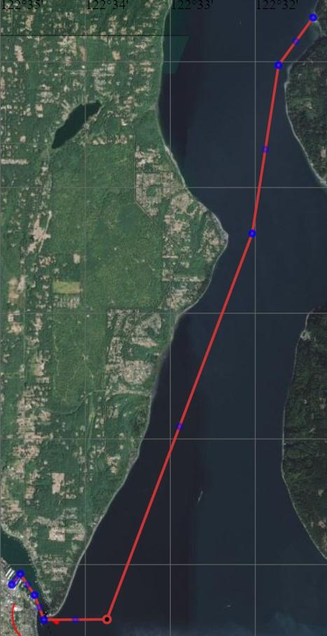 Map of Gig Harbor to Lisabuela