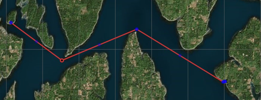 Map of Hope Island to Anderson Island