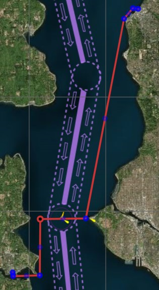 Map of Eagle Harbor to Edmonds Ferry Terminal