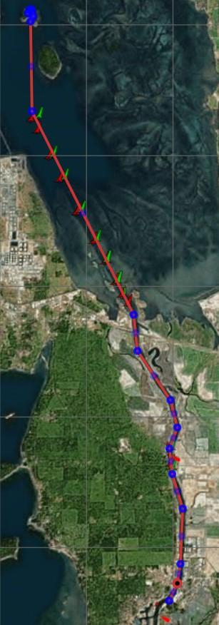 Map of La Conner to Saddlebag Island