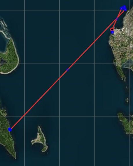 Map of Fairhaven to Lummi Island