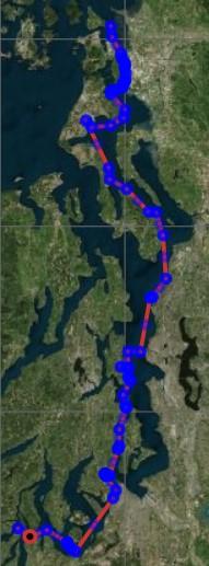 Map of Hope Island to Saddlebag Island